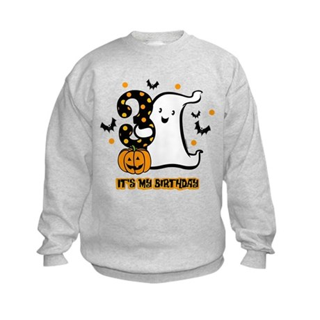 Little Ghost 3rd Birthday Kids Sweatshirt