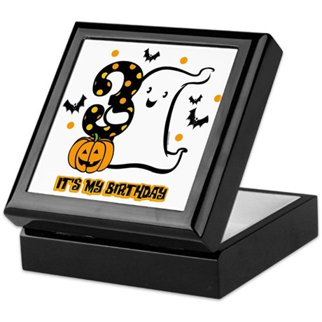 Little Ghost 3rd Birthday Keepsake Box