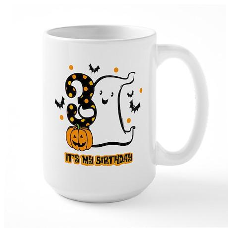 Little Ghost 3rd Birthday Large Mug