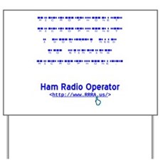 CW Microphone Yard Sign