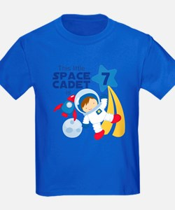 Astronaut is 7 Kids T-Shirt - Dark