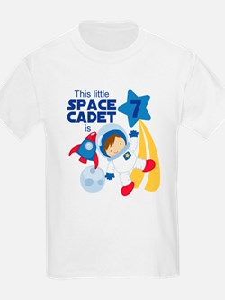 Astronaut is 7 Kids T-Shirt