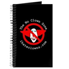 The No Clown Zone Logo Writing Journal