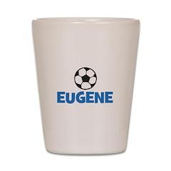 EUGENE - SOCCER BALL - Custom Name Shot Glass