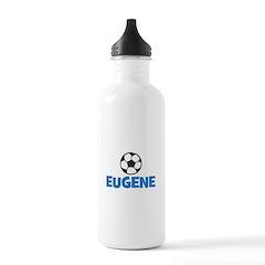EUGENE - SOCCER BALL - Custom Name Water Bottle