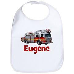 EUGENE - FIRE TRUCK - CUSTOM NAME Bib