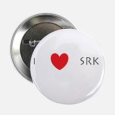 """I Love(heart) SRK 2.25"""" Button"""
