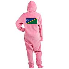 Solomon Islands Flag Footed Pajamas