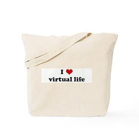 I Love virtual life Tote Bag