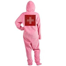 Vintage Switzerland Flag Footed Pajamas