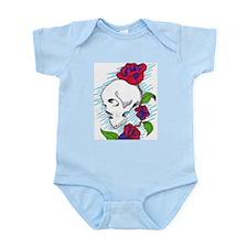 skull and roses Infant Bodysuit
