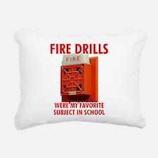 Fire Drills Rectangular Canvas Pillow