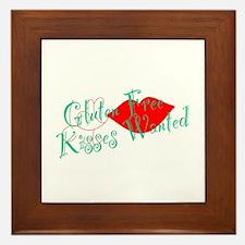 Gluten Free Kisses Framed Tile