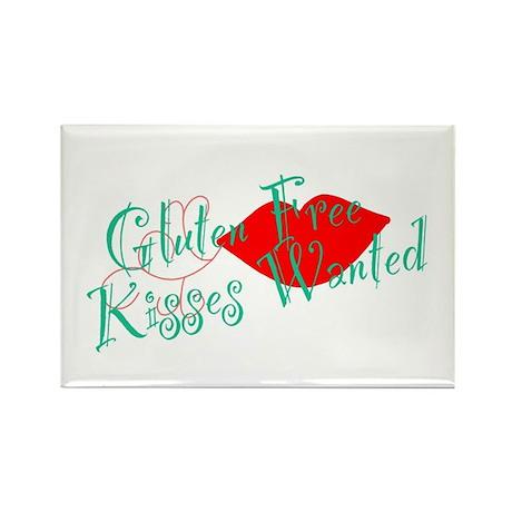 Gluten Free Kisses Rectangle Magnet