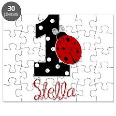 1st Birthday Ladybug - STELLA - Custom Puzzle