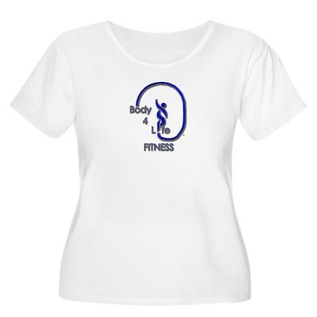 Body 4 Life Logo Women's Plus Size Scoop Neck T-Sh