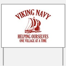 Viking Navy Yard Sign