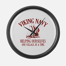 Viking Navy Large Wall Clock