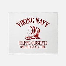 Viking Navy Throw Blanket