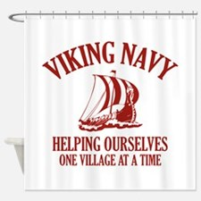Viking Navy Shower Curtain