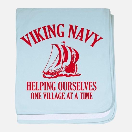 Viking Navy baby blanket