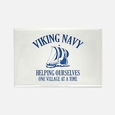 Viking Navy Rectangle Magnet