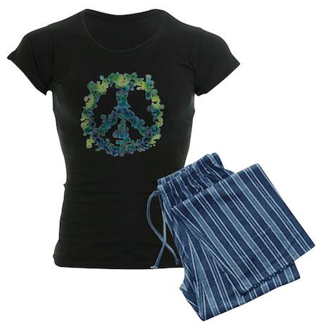Meditation Flower Peace Women's Dark Pajamas