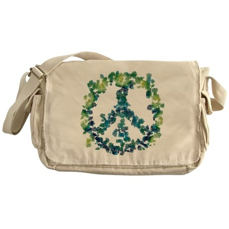 Meditation Flower Peace Messenger Bag