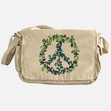 Meditation Flower Peace Messenger Bag