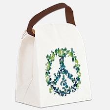 Meditation Flower Peace Canvas Lunch Bag