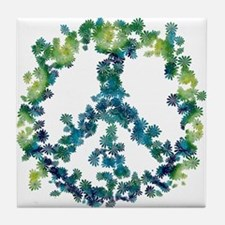 Meditation Flower Peace Tile Coaster
