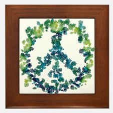 Meditation Flower Peace Framed Tile