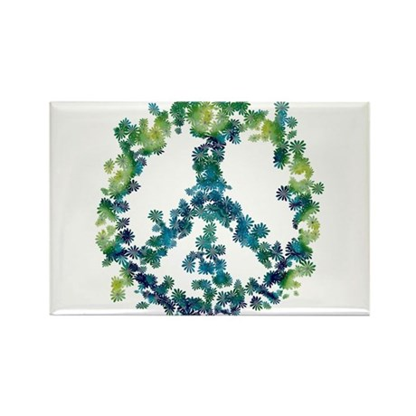 Meditation Flower Peace Rectangle Magnet