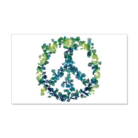 Meditation Flower Peace 20x12 Wall Decal
