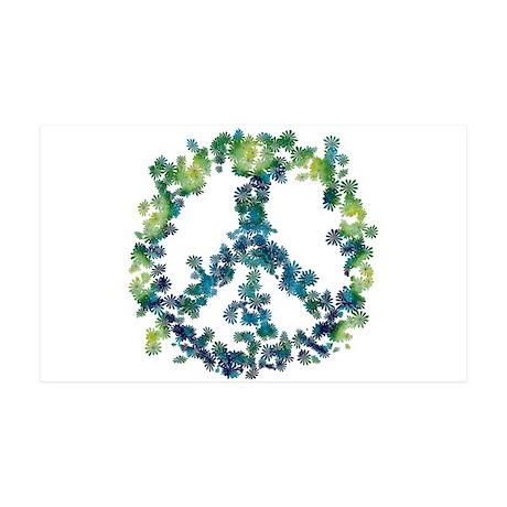 Meditation Flower Peace 35x21 Wall Decal