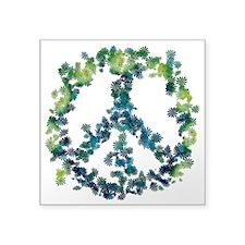 "Meditation Flower Peace Square Sticker 3"" x 3"""
