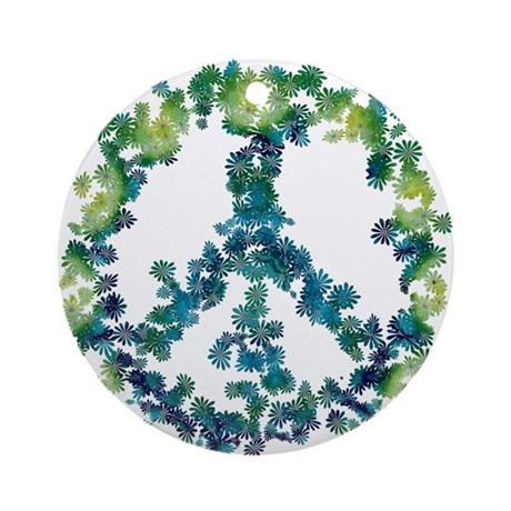 Meditation Flower Peace Ornament (Round)