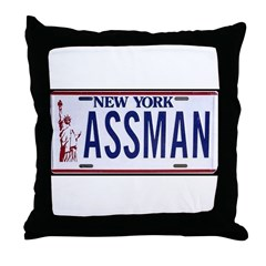 Assman Throw Pillow