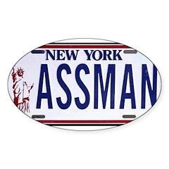 Assman Oval Sticker