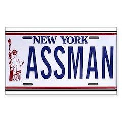 Assman Rectangle Sticker