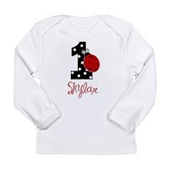 1st Birthday Ladybug - SKYLAR - Custom Long Sleeve