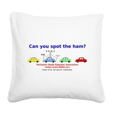 Can you spot the ham? Square Canvas Pillow