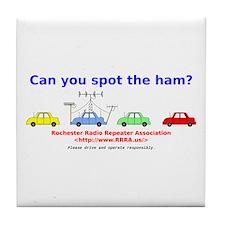 Can you spot the ham? Tile Coaster