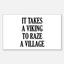 It Takes A Viking Decal
