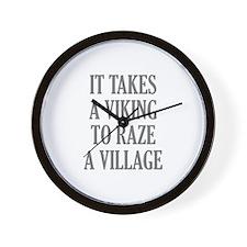 It Takes A Viking Wall Clock