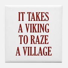 It Takes A Viking Tile Coaster