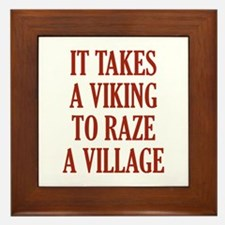 It Takes A Viking Framed Tile
