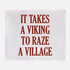 It Takes A Viking Throw Blanket