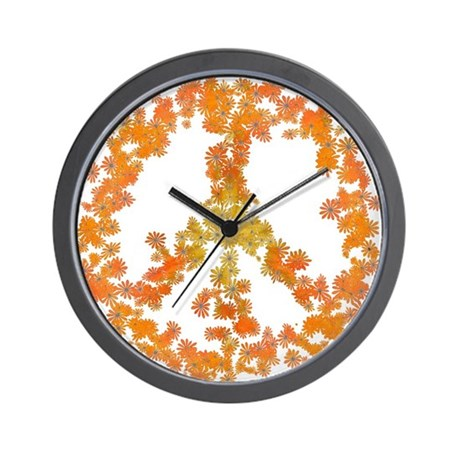 Rapture Flower Peace Wall Clock