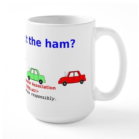 Can you spot the ham? Large Mug
